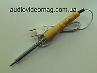 Паяльник 220V 65 Wt Вт отечественный,деревянная ручка