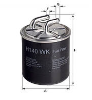 Фильтр топлива MB (производитель Hengst) H140WK