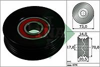 Ролик натяжной SUBARU (производитель Ina) 531 0853 10