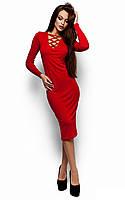 Красивое платье-футляр Шардоне (46-48 в расцветках)
