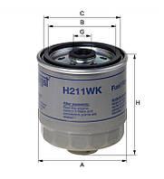 Фильтр топливный HYUNDAI (пр-во Hengst) H211WK