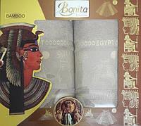 Набор бамбуковых полотенец Bamboo egipet grey