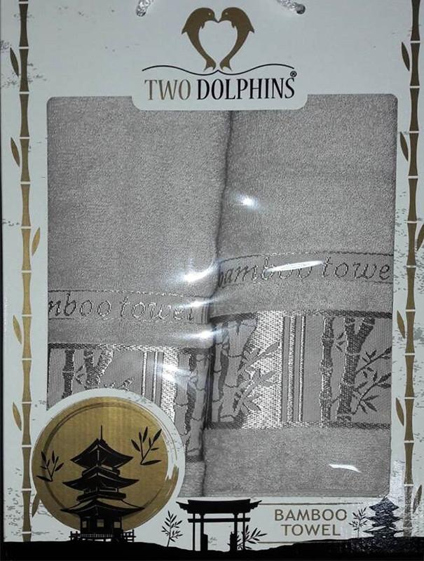 Набор бамбуковых полотенец Bamboo towel grey