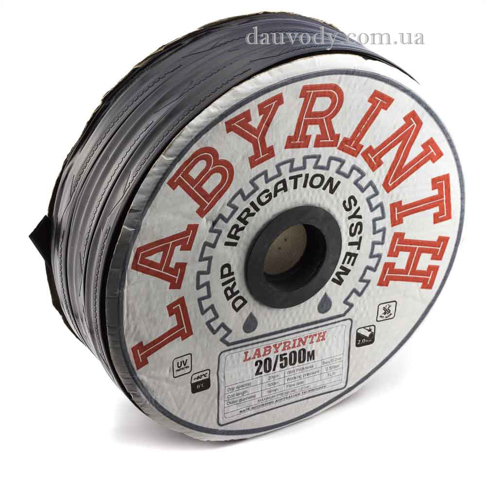 """Капельная лента (щелевая) 8 mill-10,15,20,30,45 см (1000 м) """"Labyrinth"""""""