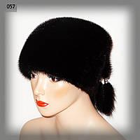 Женскакя меховая шапка из норки с кисточками