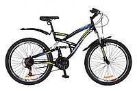 """Велосипед 26"""" Discovery Canyon AM2 14G Vbr черно-сине-зеленый 2018"""