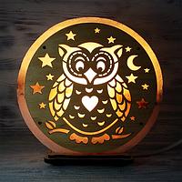 Соляная лампа Сова