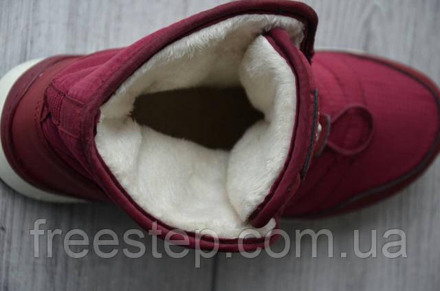 b472080b0728 Женские Зимние Сапоги в стиле Reebok бордовые мех овчина , цена 1 ...
