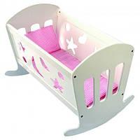 Колыбель с постелью для кукол девочкам в возрасте от 2 лет (размер 49 х 36 х 37,5 см) ТМ Bino 83699