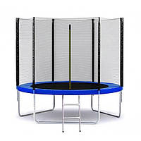 Батут для детей Jump 10 фт., 312 см.з защитной сеткой и лесницей