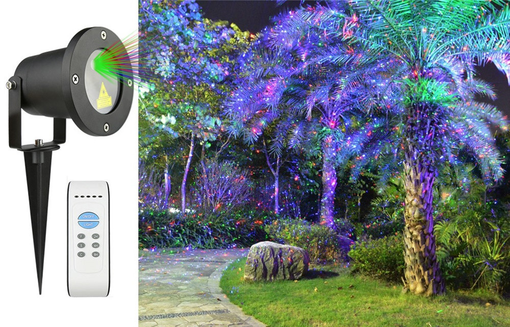Лазерный проектор STAR SHOWER 8в1 три цвета СУПЕР