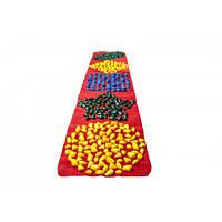 Коврик массажный с цветными камнями развивающий (с фигурами) 200 х 40 см