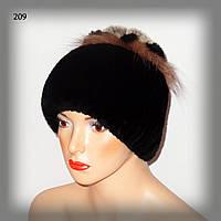 Меховая шапка из кролика Rex Rabbit (черная), фото 1