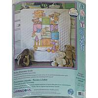 """Набор для вышивания одеяла крестом """"Детские тумбочки"""" Dimensions - Baby Drawers Quilt 73537"""