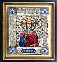 Святая Тамара икона  скань