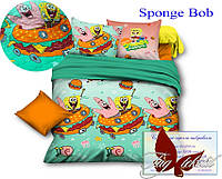 Стеганное покрывало-одеяло для детей Sponge Bob (160х212) (Pokryvalo-021)