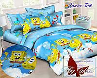 Стеганное покрывало-одеяло для детей Спанч Боб (160х212) (Pokryvalo-022)