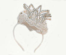 Серебристый обруч Корона для девочки