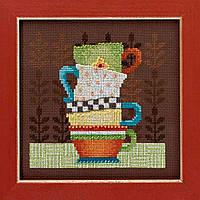 """Набор для вышивания бисером и мулине """"Кофейные чашки"""" Mill Hill - Coffee Cups DM301615"""
