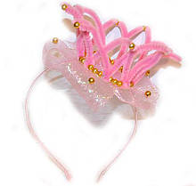 Обруч Корона розовый для маленькой Принцессы