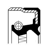Сальник ступицы MB SPRINTER 55X75X8 NBR B1BASLDRW (производитель Corteco) 01026327B
