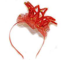 Ободок для волос девочке Корона красная