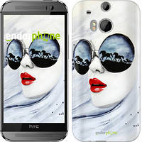 "Чехол на HTC One M8 Девушка акварелью ""2829c-30-532"""