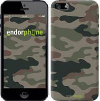 "Чехол на iPhone 5s Камуфляж v3 ""1097c-21-532"""