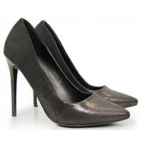 02-22 Черные женские туфли на шпильке NZS-140556 36