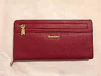 Мягкий темно-красный кошелёк, фото 1