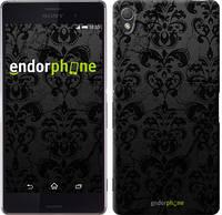 "Чехол на Sony Xperia Z3 dual D6633 узор черный ""1612c-59-532"""