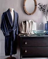 Халат мужской Tivolyo Home   IRIS бамбук темно-синий XL