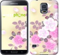 """Чехол на Samsung Galaxy S5 g900h Японские цветы """"2240c-24-532"""""""
