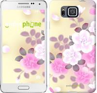 """Чехол на Samsung Galaxy Alpha G850F Японские цветы """"2240c-65-532"""""""