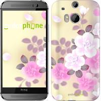 "Чехол на HTC One M8 dual sim Японские цветы ""2240c-55-532"""