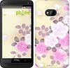 """Чехол на HTC One M7 Японские цветы """"2240c-36-532"""""""
