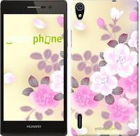 """Чехол на Huawei Ascend P7 Японские цветы """"2240c-49-532"""""""