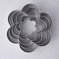 Вырубка для печенья металл Цветы 5 шт (2,8-8см)