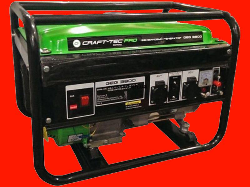Бензиновый генератор на 3,3 кВт Craft-tec PRO GEG3800