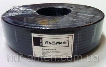 Коаксиальный кабель FinMark RG-6 SM (100 м.) 75 Ом черный