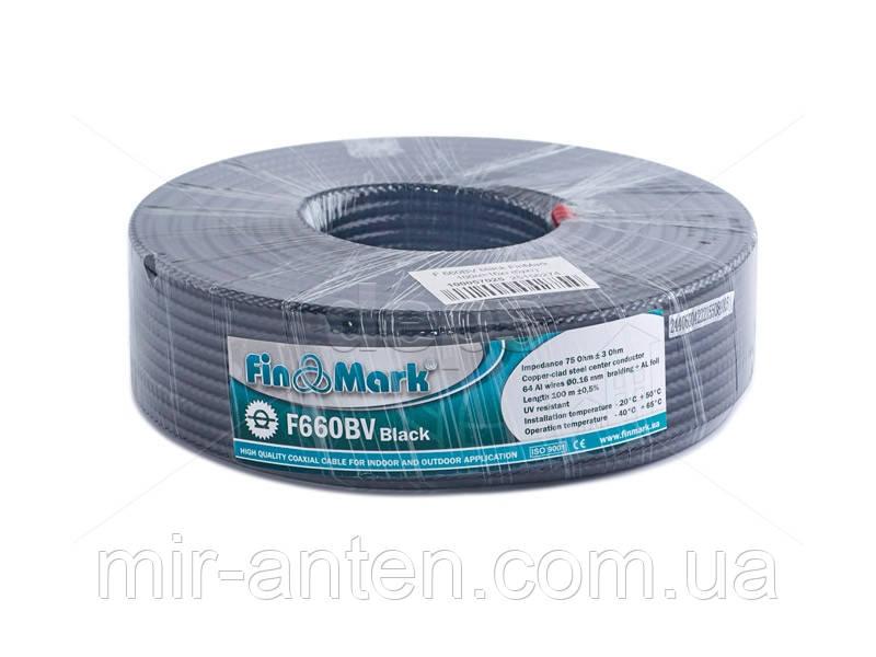 Коаксиальный кабель FinMark F660BV Black (100 м.) 75 Ом черный