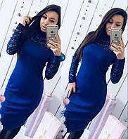 Женское Платье облегающее с гипюром