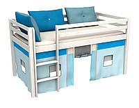 Кровать для детей с матросом с занавесом 188*88 см