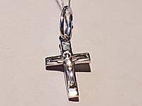 Золотой крестик. Распятие Христа. Артикул КР057(2)БИ