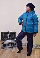 Детский зимний костюм  (куртка и полукомбинезон)