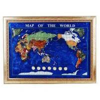 Карта мира, мраморная крошка