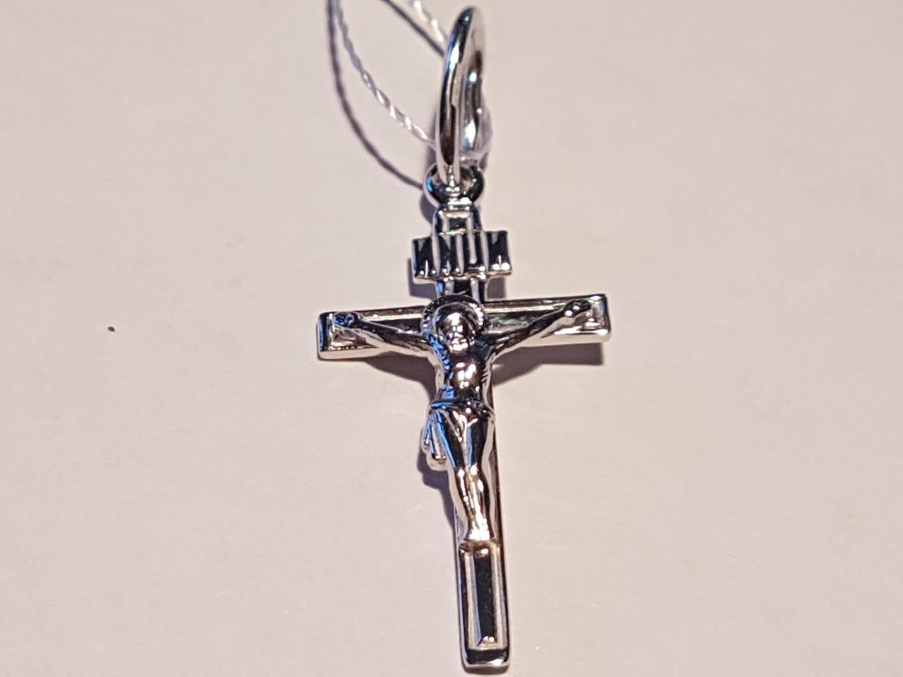 Золотой крестик. Распятие Христа. Артикул КР096БИ