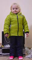 Детский зимний костюм для девочки (куртка и полукомбинезон)