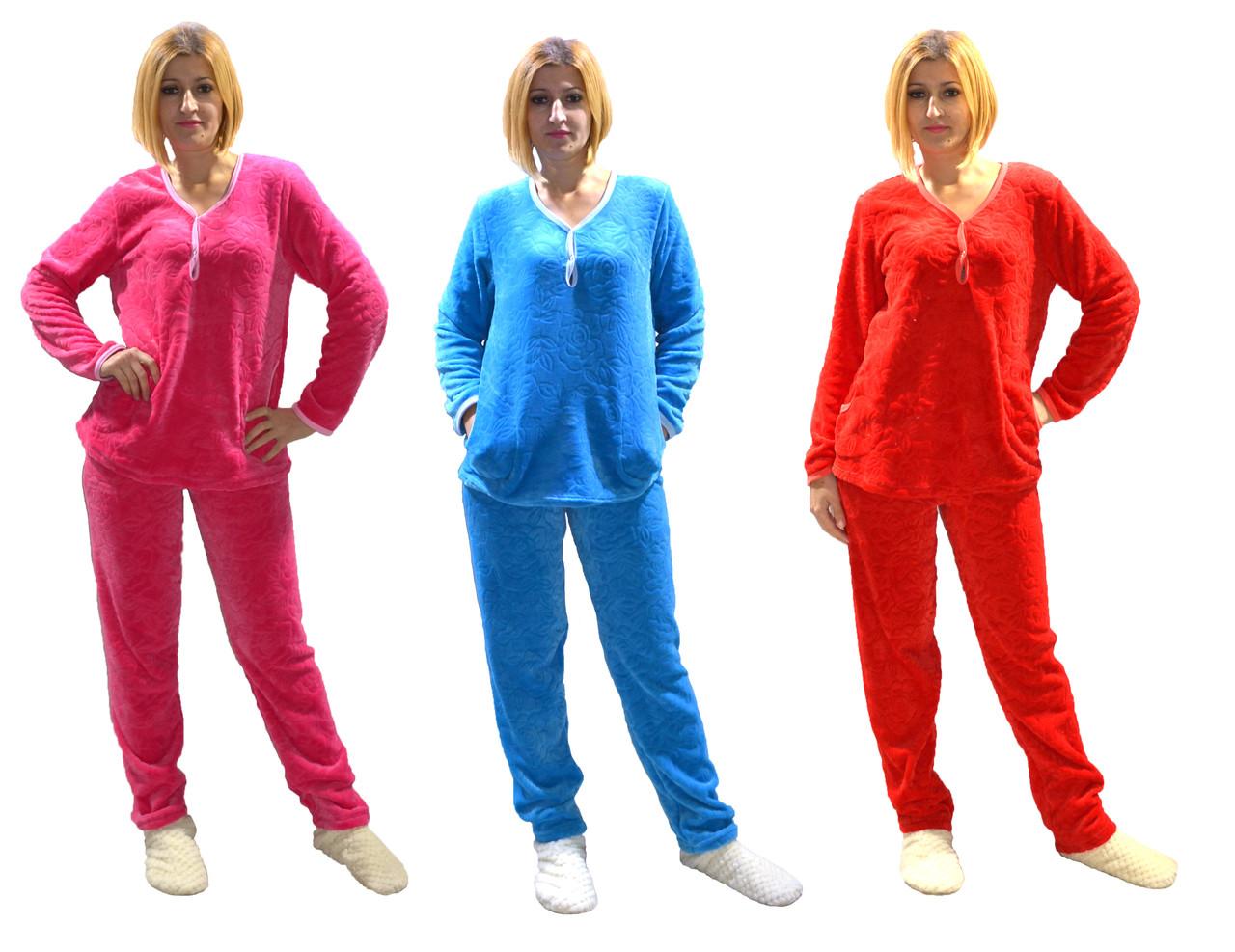 a8eb9e93508f Махровая женская пижама для кормления р.44-52, цена 368 грн., купить в  Кременчуге — Prom.ua (ID#617906772)