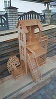 """Ляльковий дерев""""яний будиночок для барбі 3 поверхи. Игрушечный домик для кукол барби 3 етажа"""